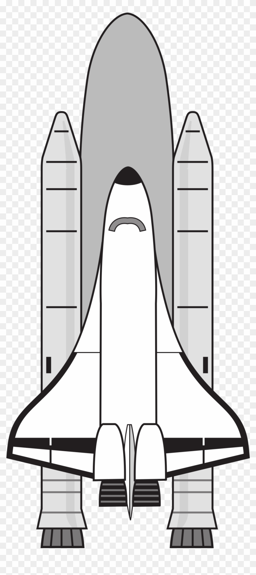 Vector Transparent Stock Nasa Icons Png Free And Downloads - Space Shuttle Black And White Clipart #312649
