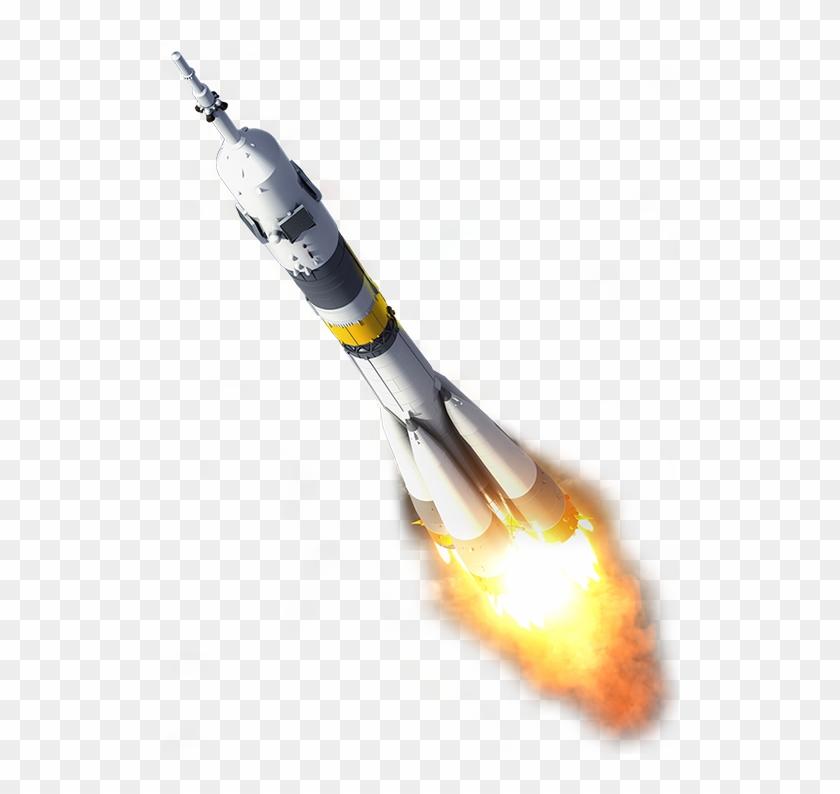 518 X 714 18 - Fire Transparent Rocket Png Clipart #313239