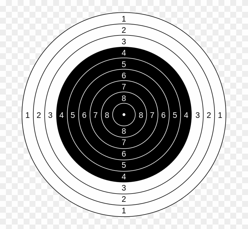 Graphic Transparent Rifle Targets Printable Air Target - Dianas De Tiro Al Blanco, HD Png Download #316355