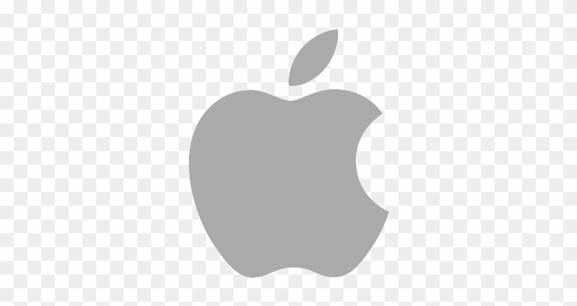 Apple Music - Apple Logo Grey Clipart #317170
