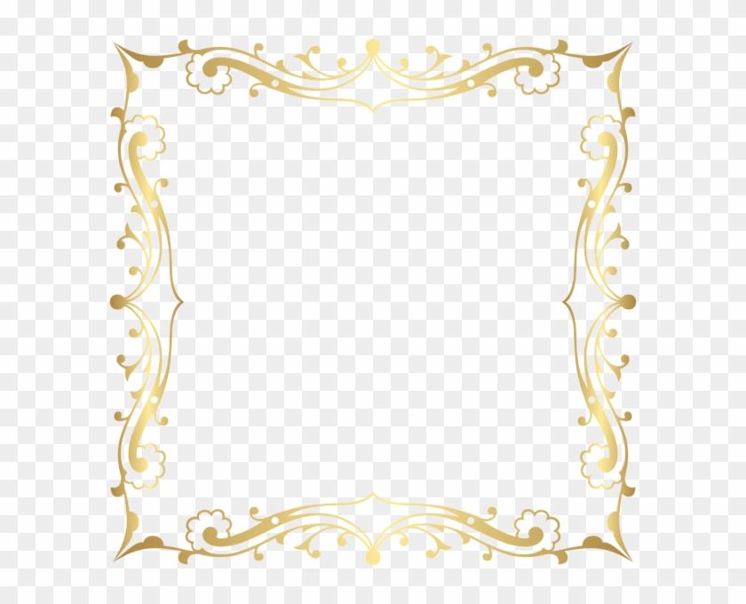Fancy Frame Border Transparent Transparent Background - Gold Border With Transparent Background Clipart #319735