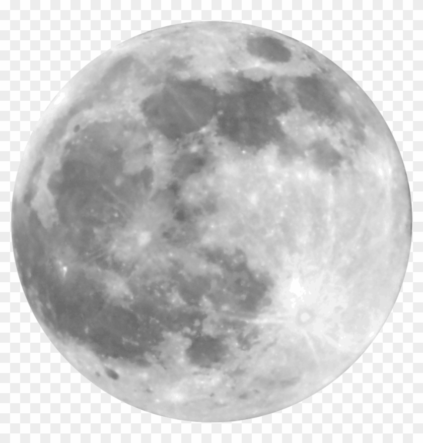 Moon Png - Full Moon Vector Png Clipart #319808