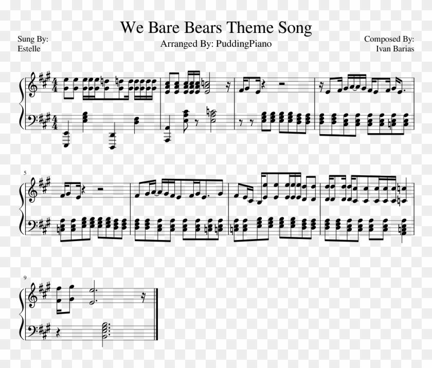We Bare Bears Theme Song - Kass Theme Accordion Sheet Music Clipart #3100547
