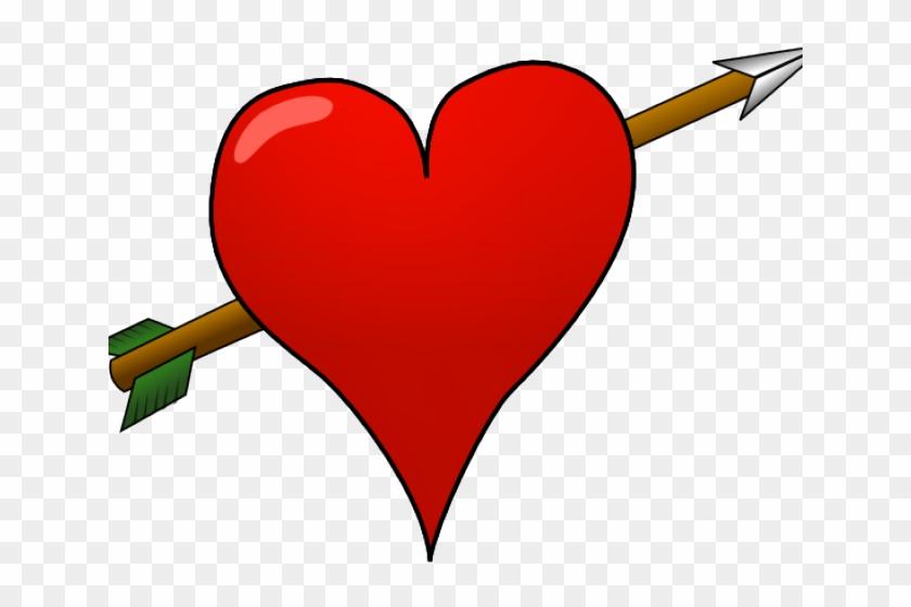 Heart With Arrow - Heart With A Arrow Clipart #3106852
