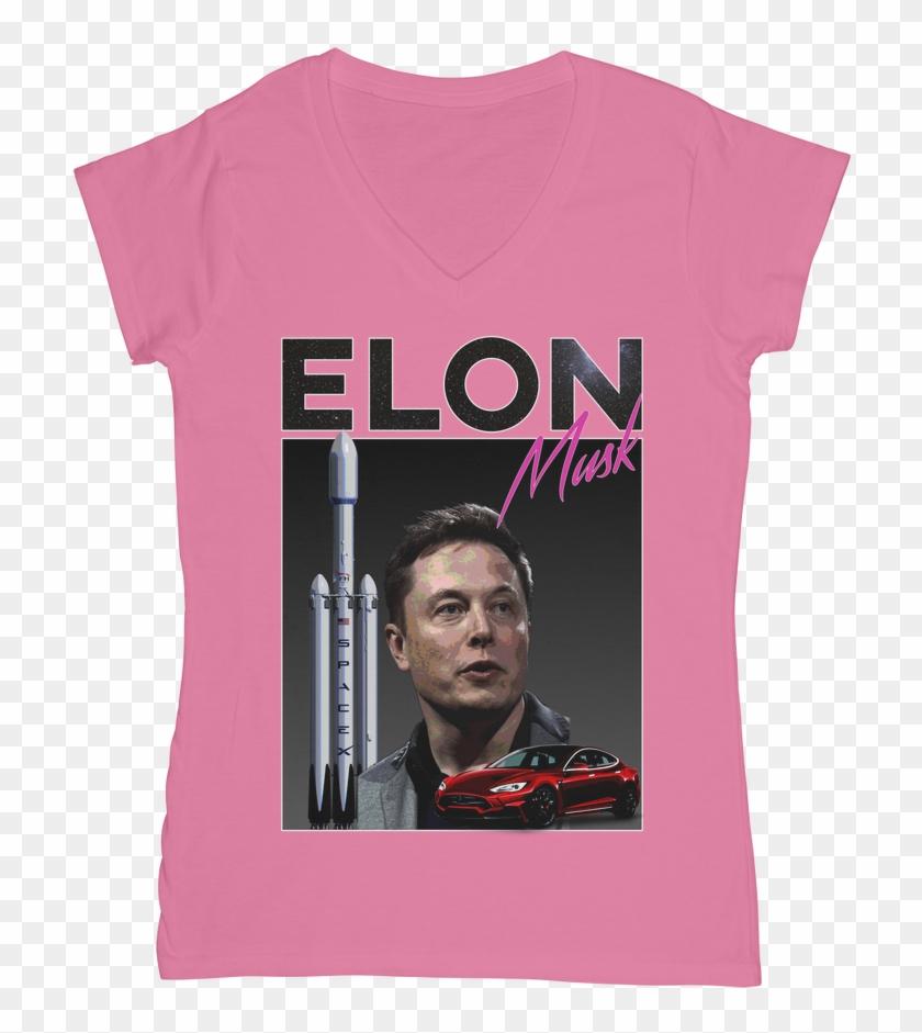 Elon Musk classic Women's V Neck T Shirt - Active Shirt Clipart #3112691
