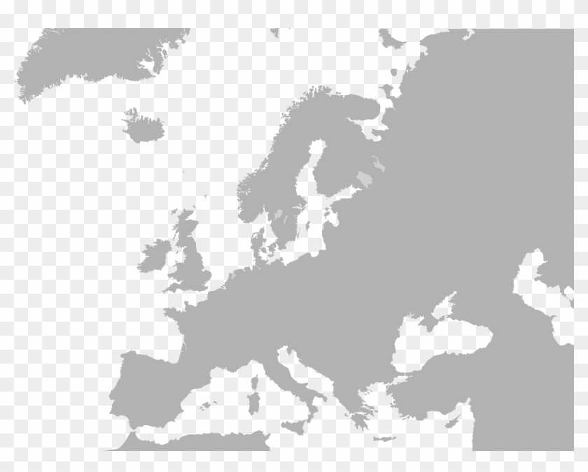 Blank Map Europe No Borders - Europe Map No Borders Clipart@pikpng.com