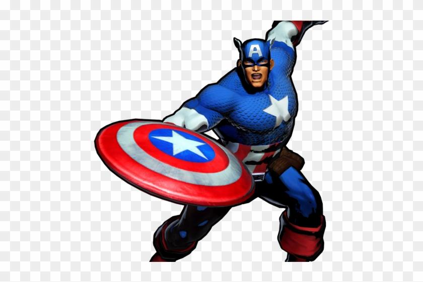 Captain Marvel Clipart Animated - Marvel Vs Capcom 3 Captain America - Png Download #3116812