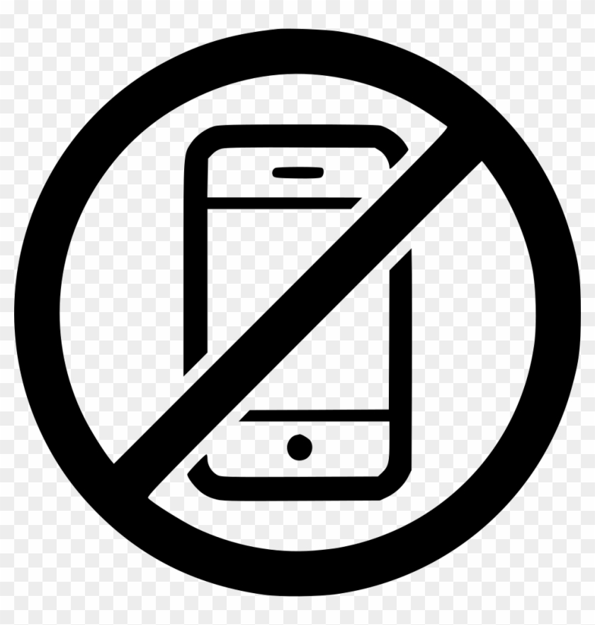 No Phone Png Transparent Background No Cell Phone Black And