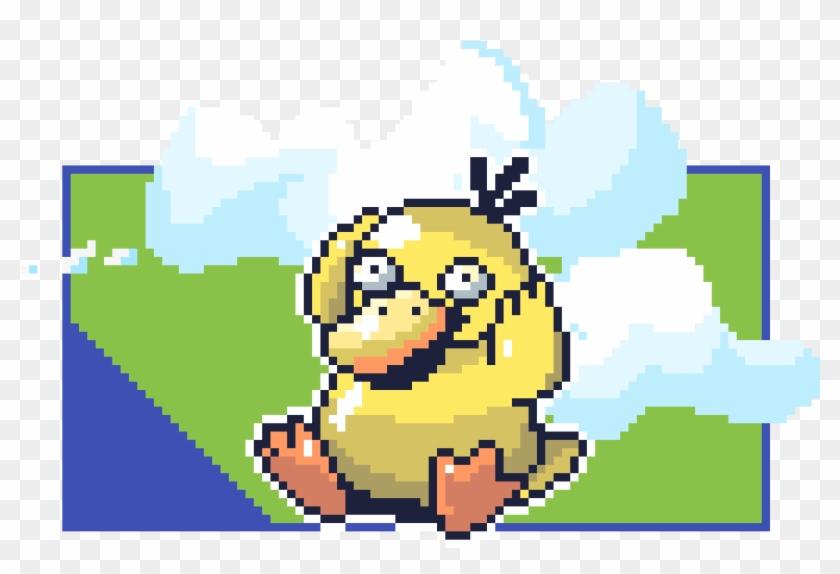 Psyduck Tik Tok - Psyduck Pixel Art Clipart #3119044