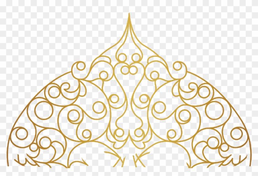 #mandala #swirls #design #pattern #paisley #gold #decor - Gold Design Line Png Clipart #3121308