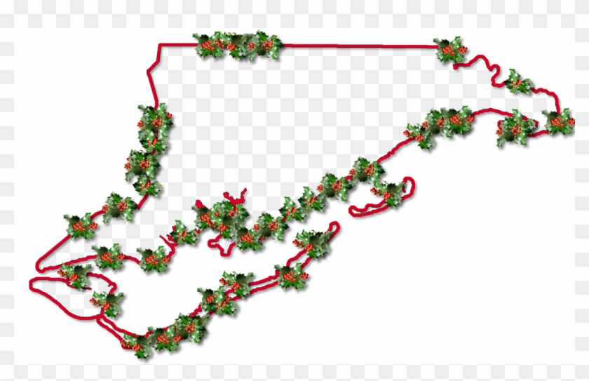 A Map Of Franklin With A Red Outline, Inner Drop Shadow, - Christmas Tree Clipart #3122374