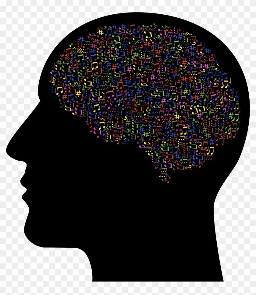 Brain Clipart Music - Brain In Skull Clip Art - Png Download #3128650