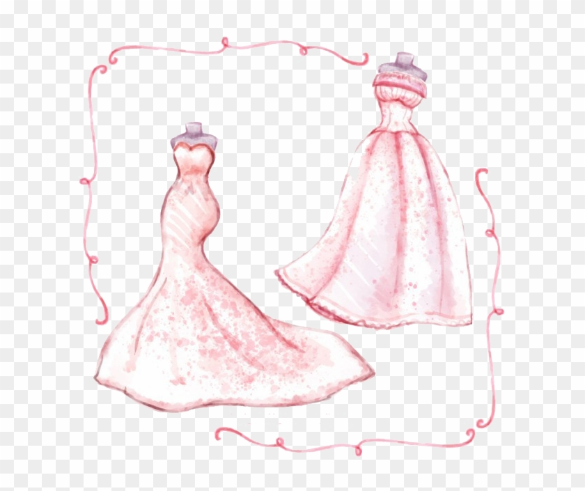 Bride Painting Transprent Png Free Download Pink Clipart #3133290