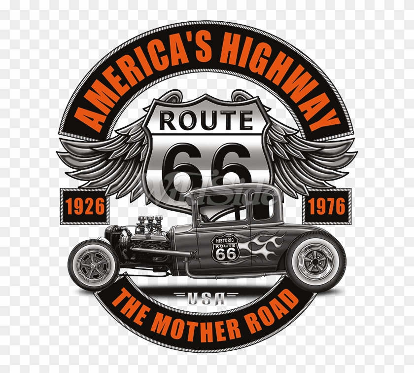 Route 66 Muscle Car Toddler - Route 66 Clipart #3134900