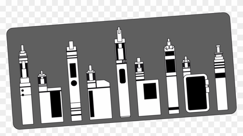 Powerpoint Cover Slide With Pictures Of Various Vaping - Illustration Clipart #3139334