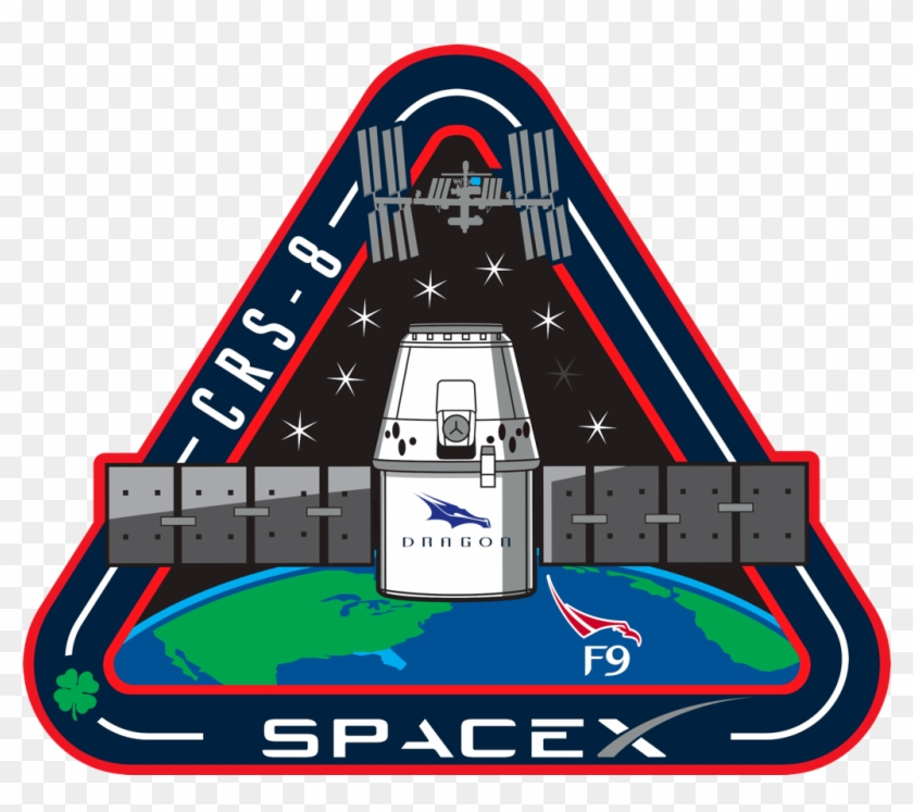Falcon - Space X Mission Patch Clipart #3140113