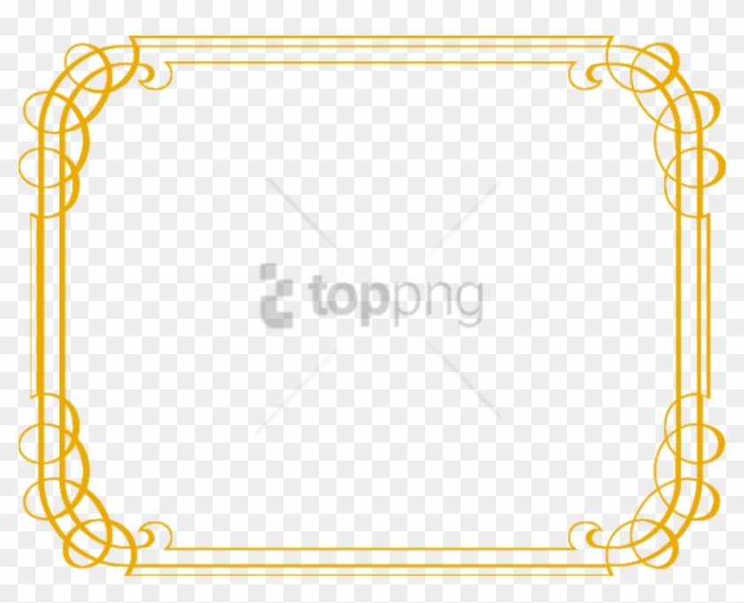 Free Png Gold Border Png Png Image With Transparent - Gold Free Fancy Borders Clipart #3142119