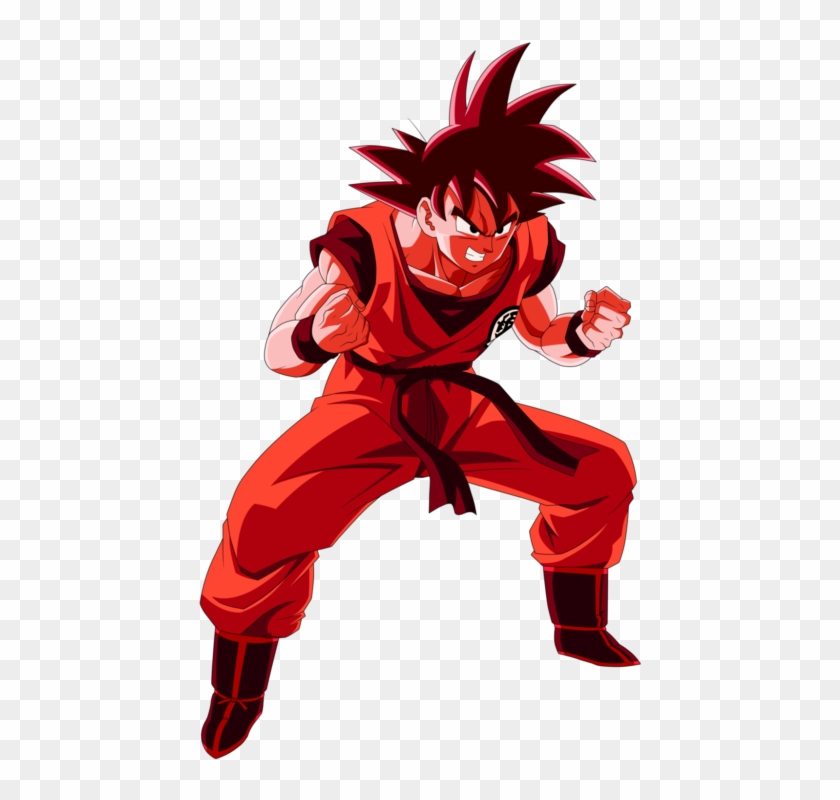 Goku Preparado Para Pelear - Goku Kaioken Wallpaper Hd Clipart #3146194