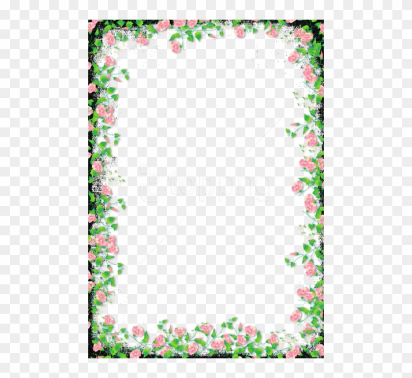 Free Png Black Transparent Flower Frame Background - Border Design Png Flower Clipart #3156687