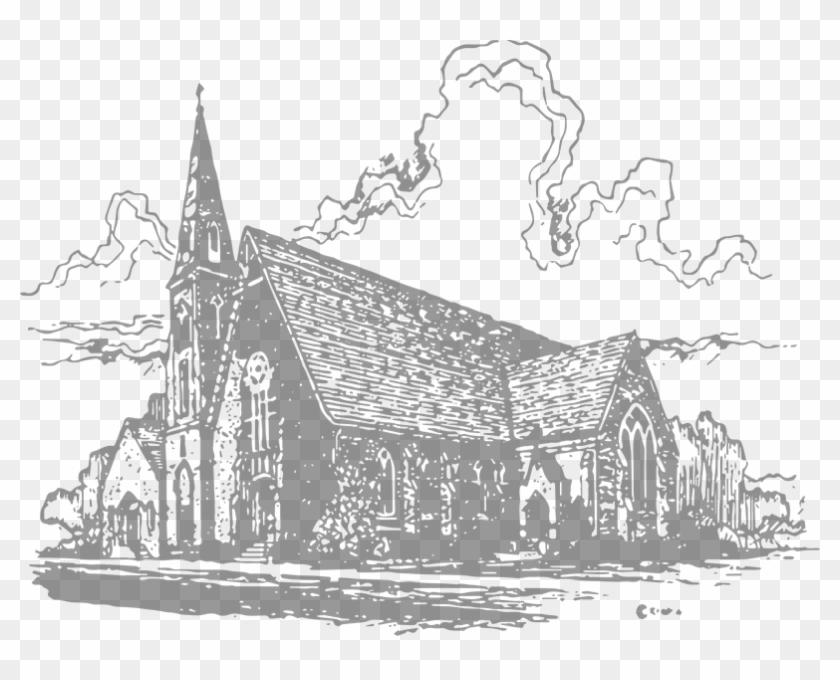 Christ Episcopal Church - Episcopal Church Drawing Clipart #3160092
