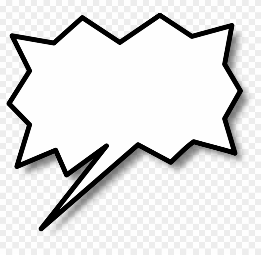 Comic Book Text Bubble Png - Call Out Shape Png Clipart #3161813