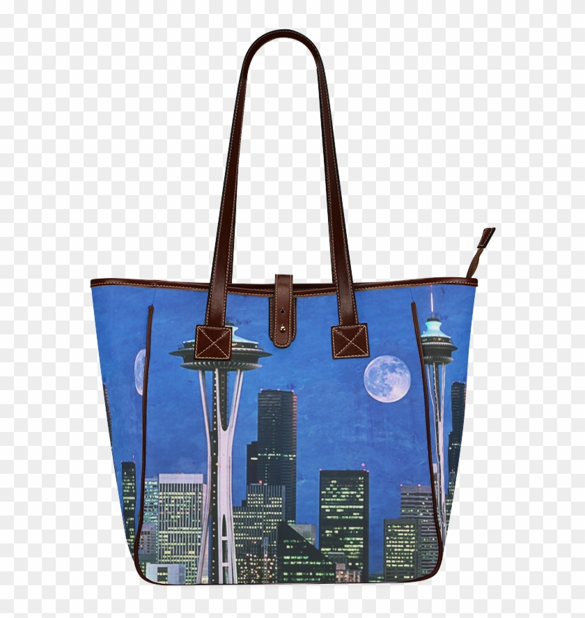 Seattle Space Needle Watercolor Classic Tote Bag - Tote Bag Clipart #3163310