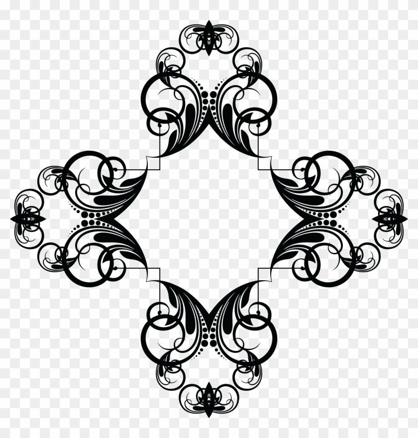 Free Clipart Of A Frame Design Element - Clipart Corner Design Png Transparent Png #3164829