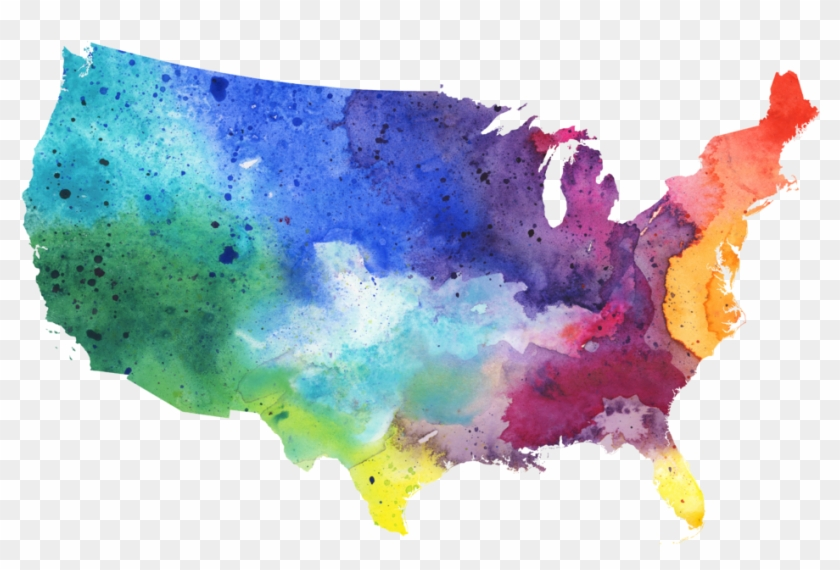 Map Of The Us Clipart #3165608