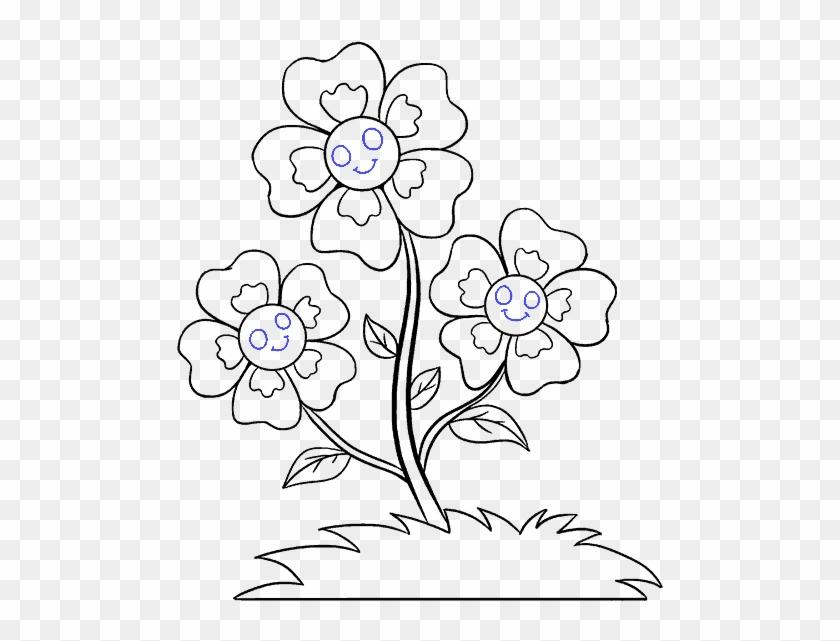 Small Blue Flowers Clip Art