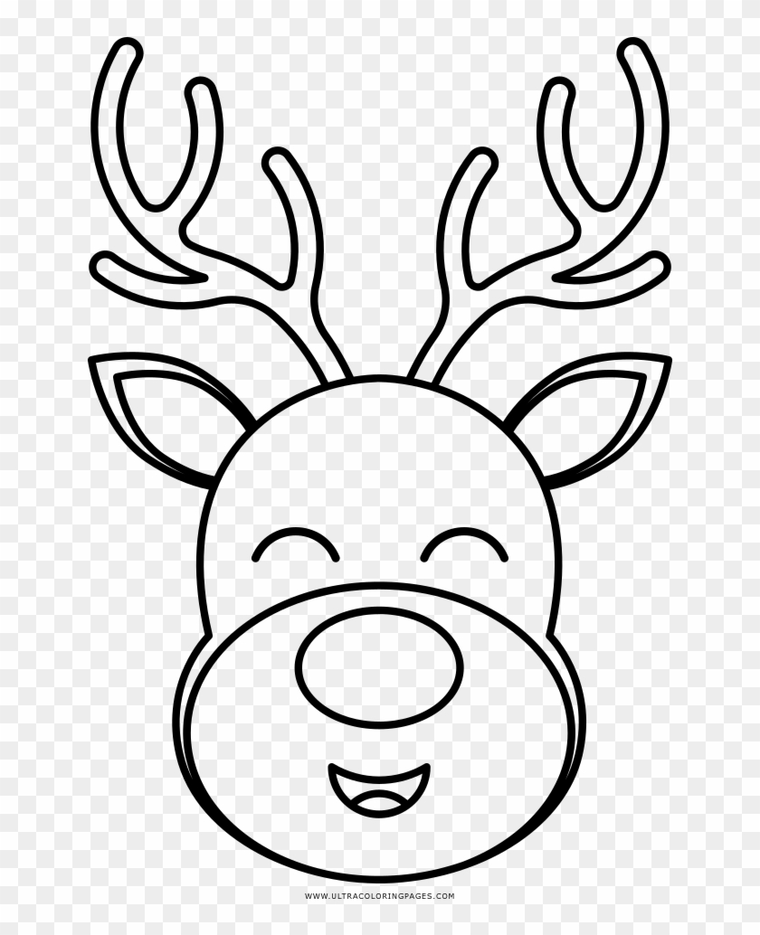 Rudolph Coloring Page Rudolph Face Black And White Clipart 3169298 Pikpng