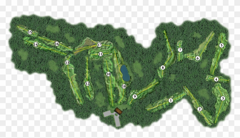 Whole Course Overview - 18 Hole Golf Course Project Layout Clipart #3174281