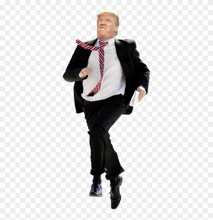 Donald Trump Running Transparent Clipart #3181144