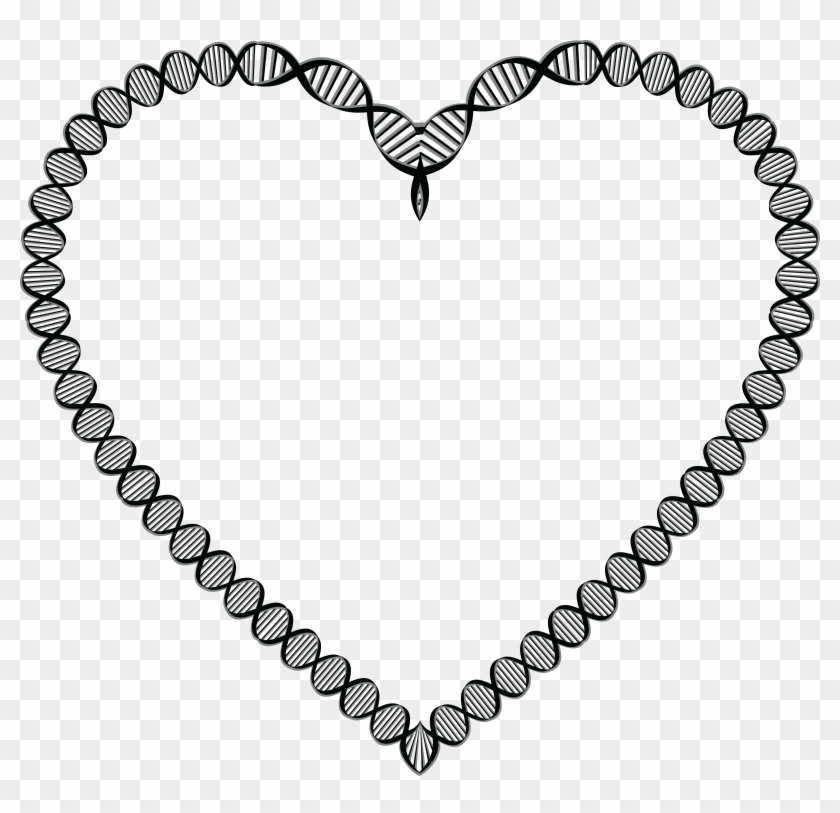 Free Of A Dna Double Helix Strand - Border Line Design For Biology Clipart #3185208