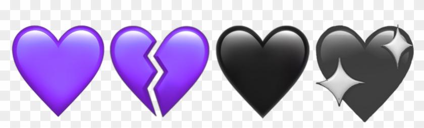 Purple Hearts Heart Broken Heartbroken Aesthetic Aesthetics - Heart Clipart #3187649
