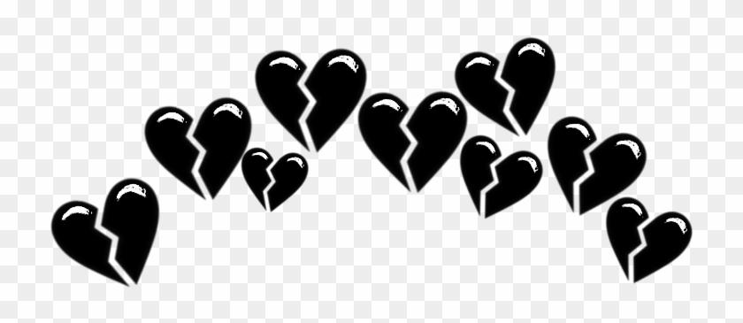 #broken #brokenheart #heart #hearts #tumblr #black - Heart Clipart #3187707