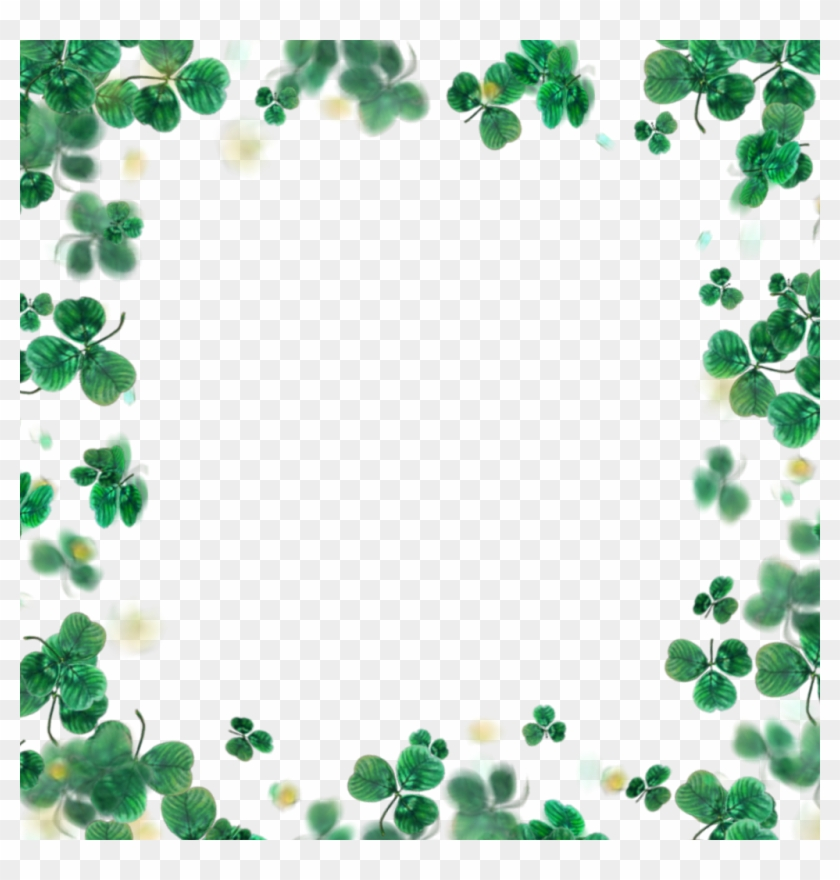 #border #leaf #luck #lucky #simple #green - Picture Frame Clipart #3198184