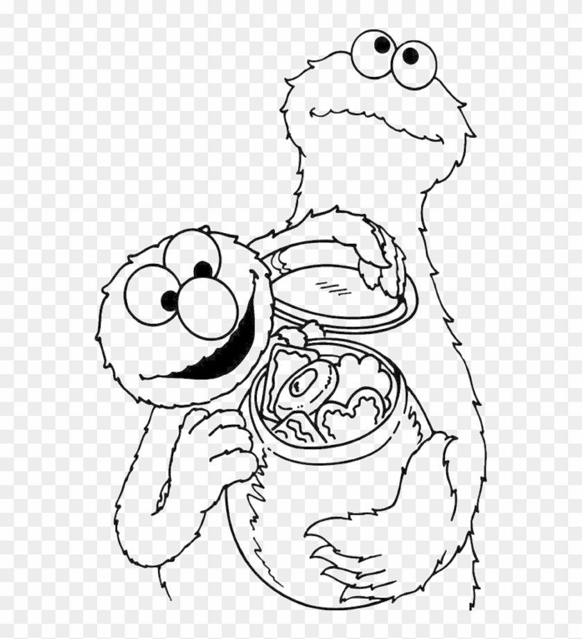 Cookie Monster Share Cookies Coloring Page Coloring Book