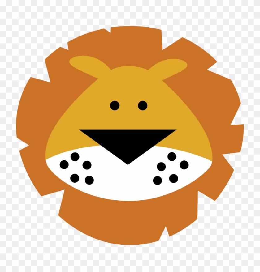 Cute Lion Head Clipart - Cute Lion Face Cartoon - Png Download #320566