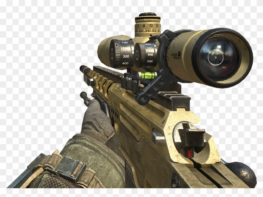 Sniper Call Of Duty Png - Black Ops 2 Sniper Png Clipart #323203