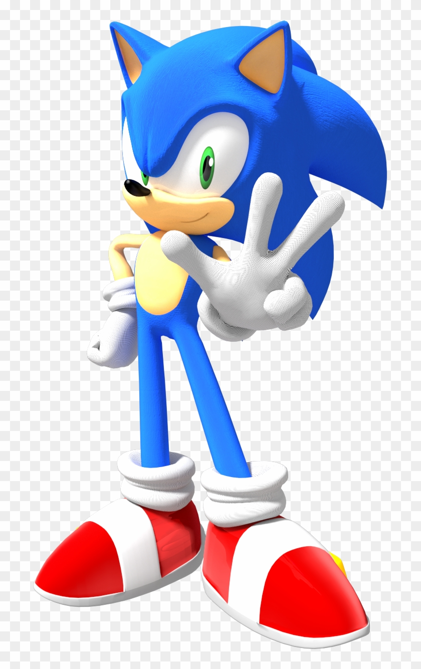 Classic Sonic The Hedgehog Png Sonic The Hedgehog Pose Clipart 324710 Pikpng