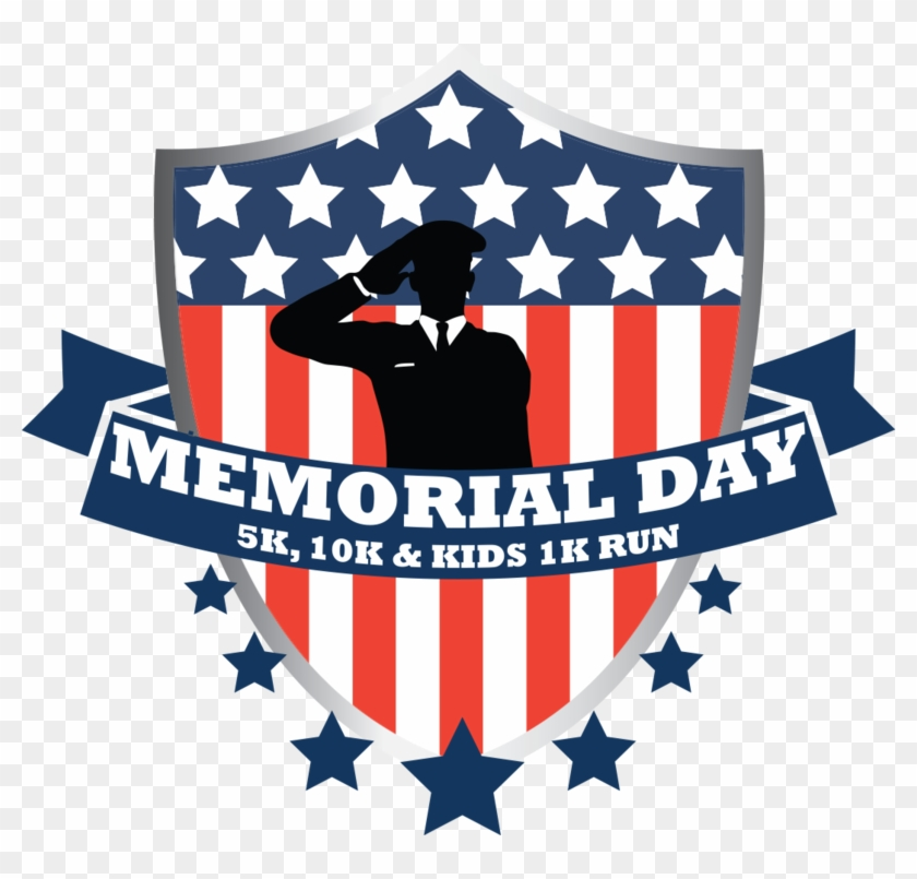 Memorial Day 5k, 10k & Kids 1k Run - Flag Of The United States Clipart #325197