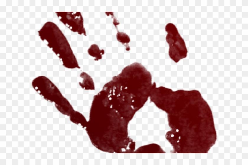 Handprint Clipart Blood - Bloody Handprint Png Transparent Png@pikpng.com