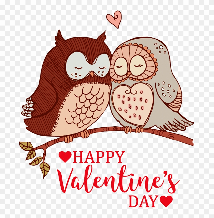 Banner Royalty Free Download Valentine Free Graphics - Valentines Day Owl Clipart - Png Download #327273