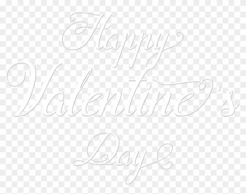 Happy Valentine's Day Text Transparent Png Image - Valentines Day Png Transparent White Clipart #327868