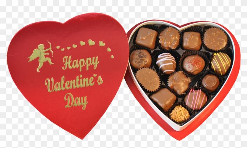 Happy Valentines Day Chocolate - Valentine's Day Chocolate Heart Box Clipart #328304