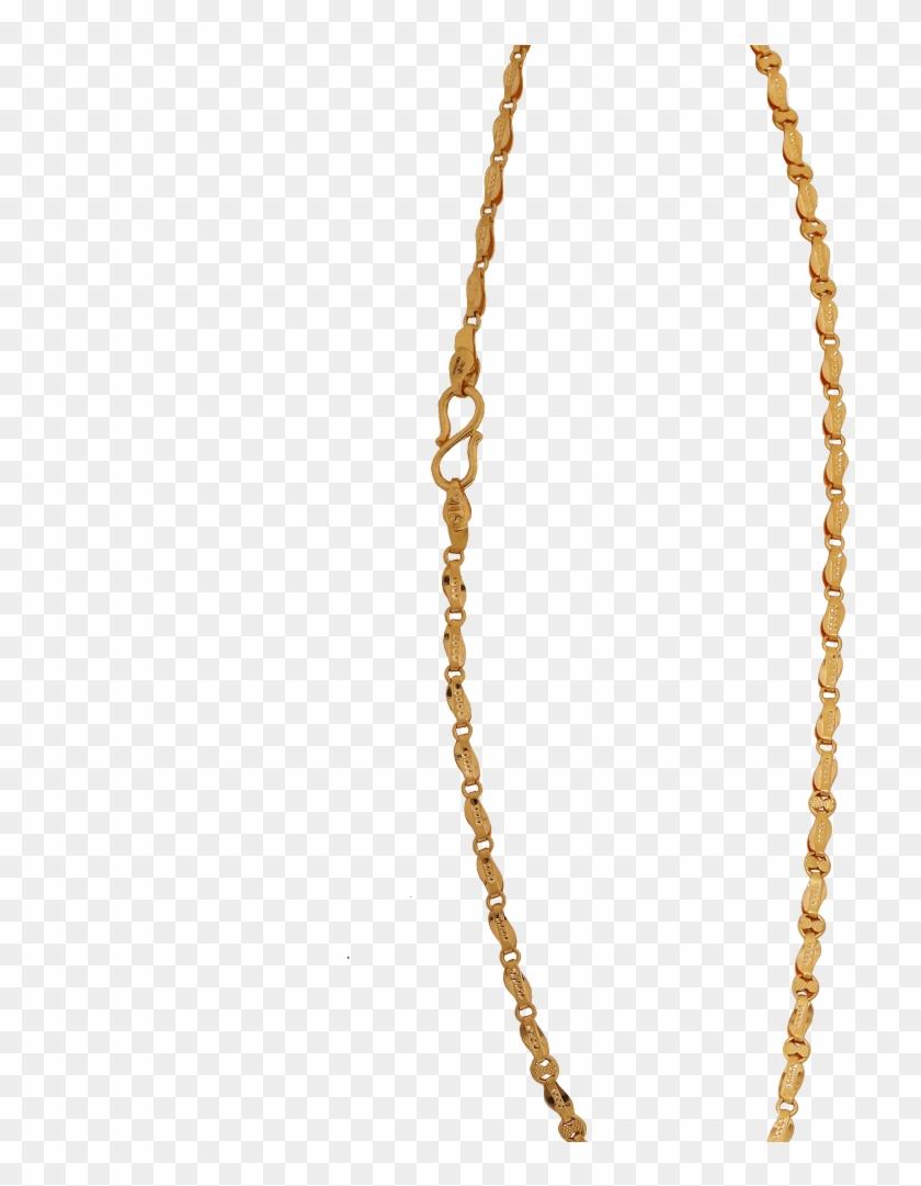 Elegant Paisley Motif Gold Chain - Chain Clipart #3203818
