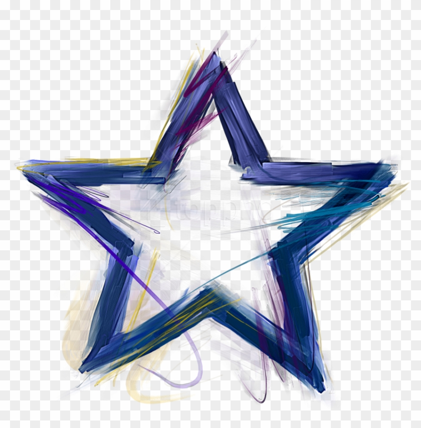Free Png Download Blue Star Clipart Png Photo Png Images - Star Outline Transparent Png #3205230