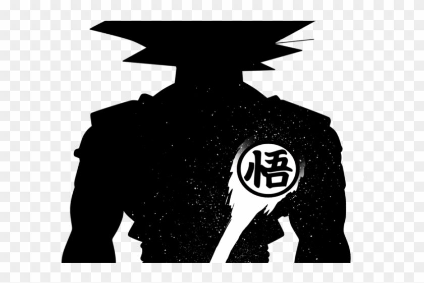 Goku Clipart Silhouette - Dragon Ball Black And White - Png Download #3209631