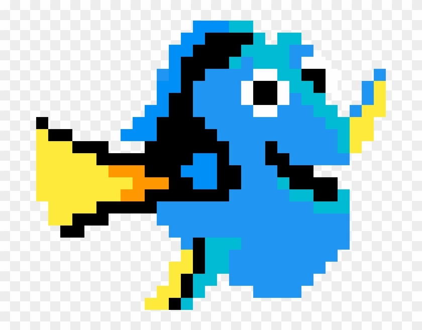 Dory Lilo And Stitch Pixel Art Clipart 3210118 Pikpng