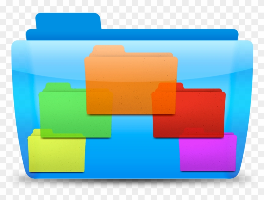Mac Color Folder Icons Free - Icon Windows Active Directory Clipart #3210344